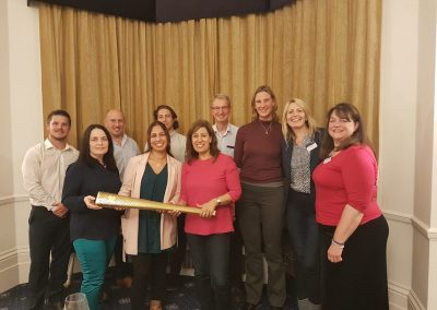 With the inspirational Sarah Wiinckless, our after dinner speaker, and 'the torch'...